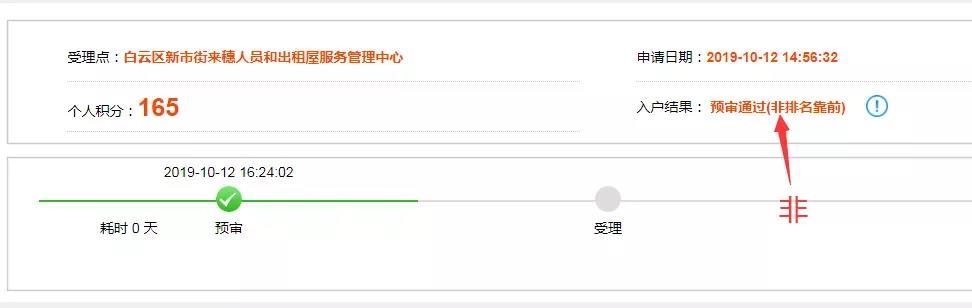 广州积分入户网上流传的截图中